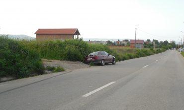 Răsturnat în şanţ, la Moldova Nouă