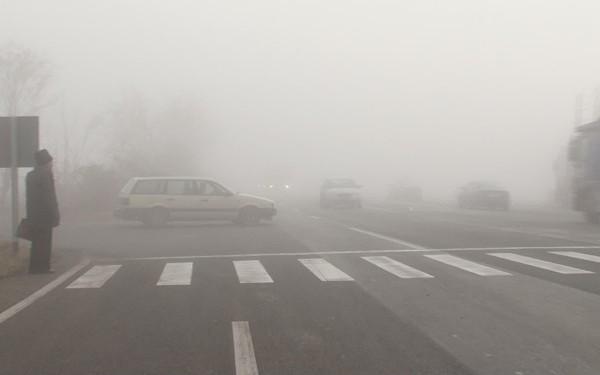 Ceață densă pe DN 57