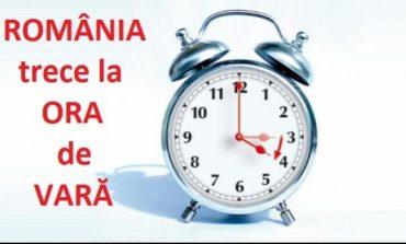 România trece  la ora de vară