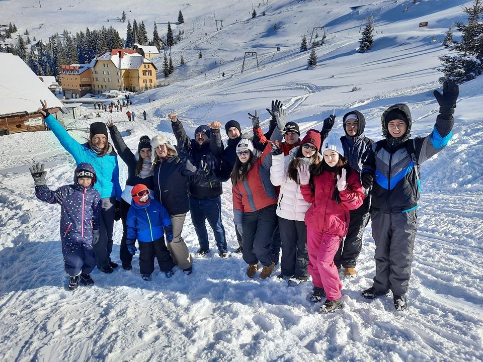 Sport ,bucurie și rugăciune pe Muntele Mic