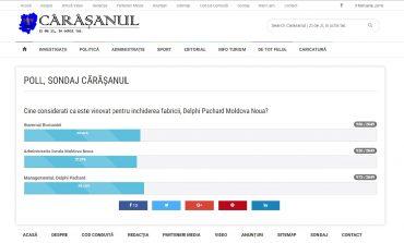 Delphi Pachard Moldova Nouă în sondaj!