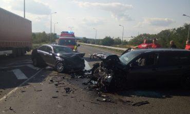 Accident pe Centura Caransebeșului, patru persoane rănite