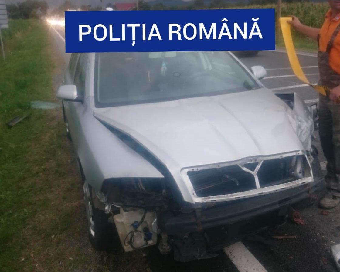 Un accident rutier, în care au fost implicate patru autovehicule şi nouă persoane, s-a produs miercuri seara, pe DN 6, în afara localităţii Jupa