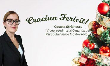 Craciun fericit!Cosana Străinescu, vicepreşedinte al Partidului Verde Moldova Nouă