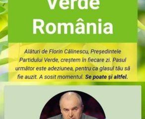 Marea provocare Verde lansată de Florin Călinescu, Preşedintele Partidului Verde