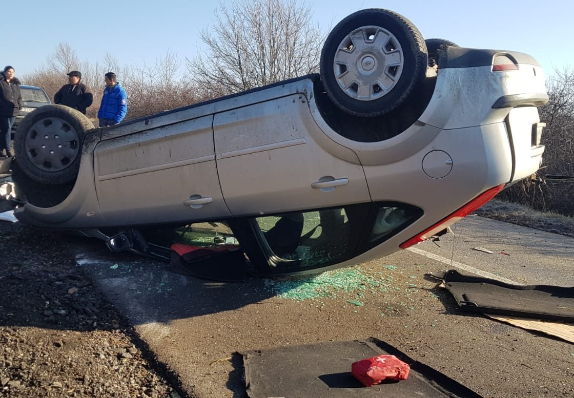 Accident spectaculos la Racajdia din fericire fara victime!