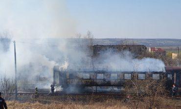 Incendiu la Gara Oravița