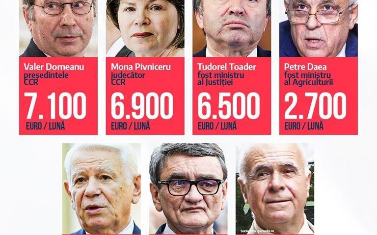 """Parlamentul """"a tuns puțin"""" pensiile speciale."""