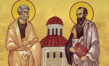 Sfintii Apostoli Petru si Pavel , praznuiti pe 29 iunie
