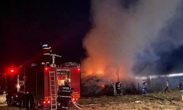 Incendiu de proportii  la o gospodarie din satul Milcoveni -com. Berliște.
