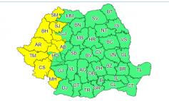 Cod galben de instabilitate atmosferică, în Banat, Crişana, vestul Olteniei!