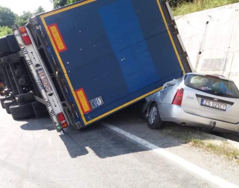 Accident spectaculos pe DN 6!