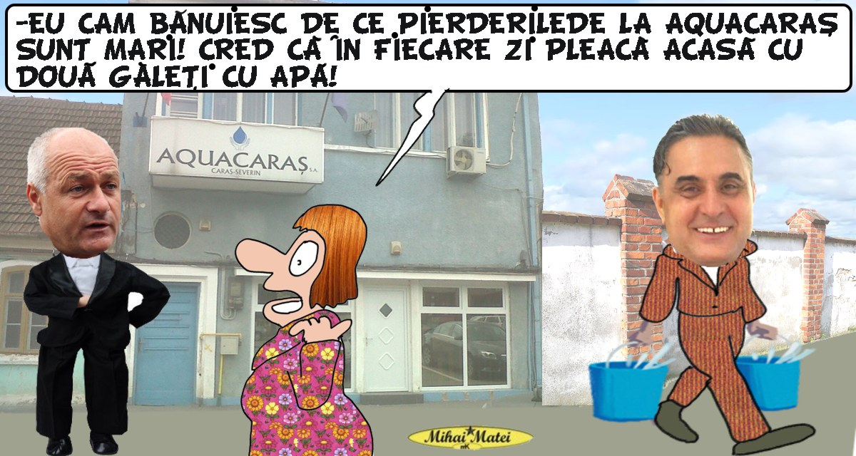 Pierderile si furtul de apa la Aquacaras depasesc 60 de procente,afirma Romeo Dunca!