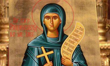 În fiecare an, pe 14 octombrie, romani o sarbatoresc pe  Sfânta Cuvioasă Parascheva.