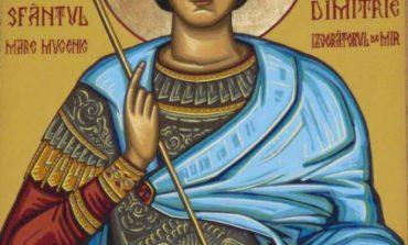Sf. Mare Mucenic Dimitrie, Izvoratorul de mir este praznuit de catre Biserica Ortodoxa in fiecare an pe 26 octombrie.