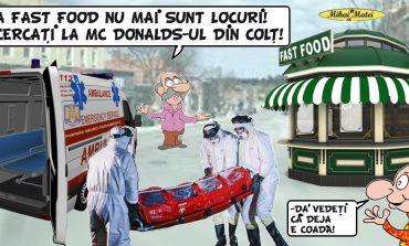 Spitalul de Urgență Sibiu primește pacienții ,suspecții de coronavirus, triați într-un chioșc de fast-food
