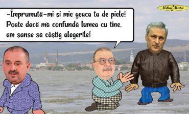Marcel Vela ,presedintele liberalilor caraseni,ii imprumuta geaca lui Ion Chisalita?