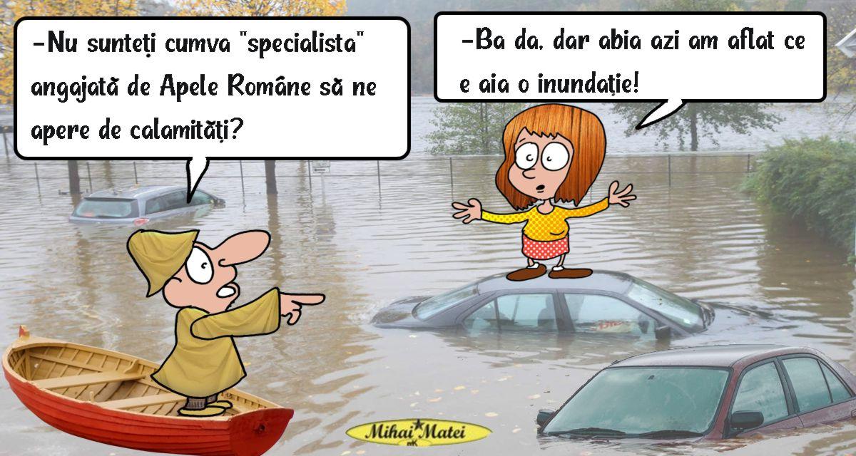 Ospătăriţa care apără România de inundaţii. Nu ştie nici măcar cum se măsoară debitul unui râu !