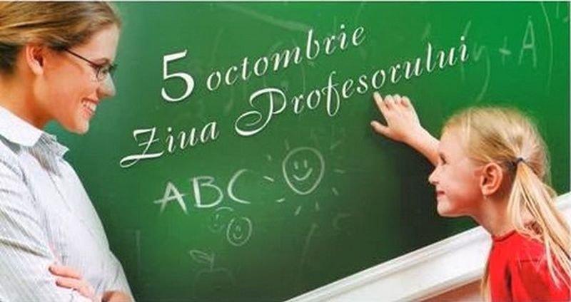 5 octombrie, zi liberă pentru elevi și profesori.  Se sărbătorește Ziua Mondială a Educației!